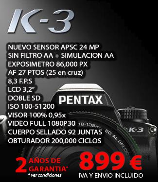 Oferta Precio Pentax K-3 cuerpo